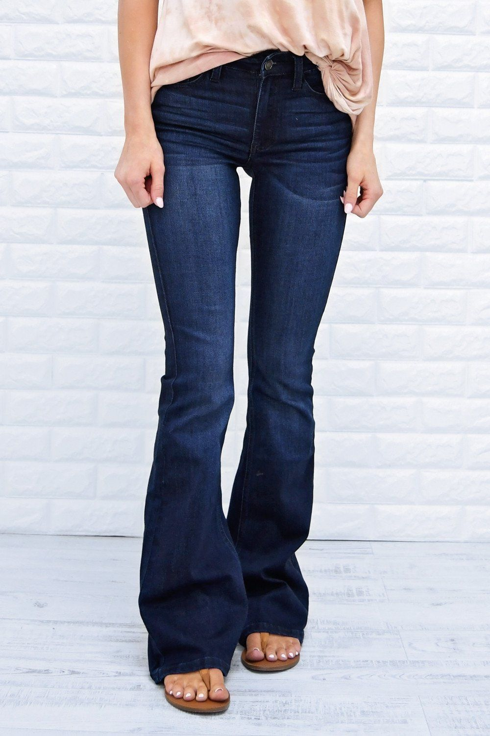 224629bc93b Must Have Dark Flare Jeans - Kan Can