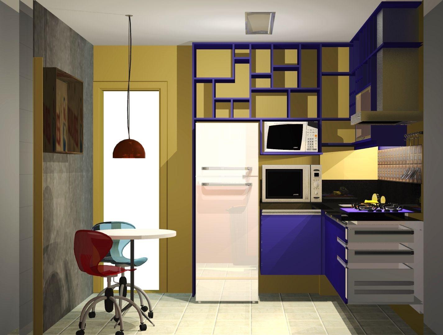 Purple and yellow kitchen cozinha roxa e amarela projetos pinterest