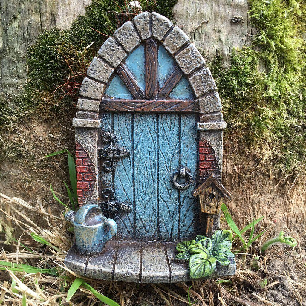 FAIRY DOOR HOUSE HOBBIT//ELF REAL WOOD  HANDMADE DOORS FOR GARDEN