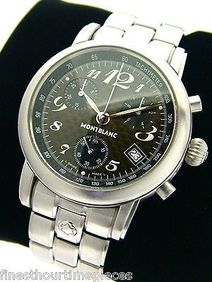 Gent's MontBlanc Stainless Meisterstuck Star Chronograph Watch 7046