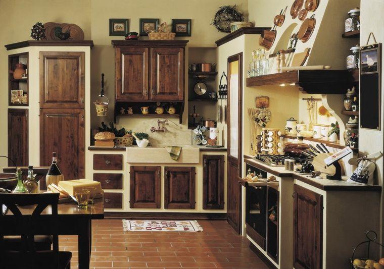 esempio-cucine-in-muratura-rustiche-struttura-bianca-ante-in ...