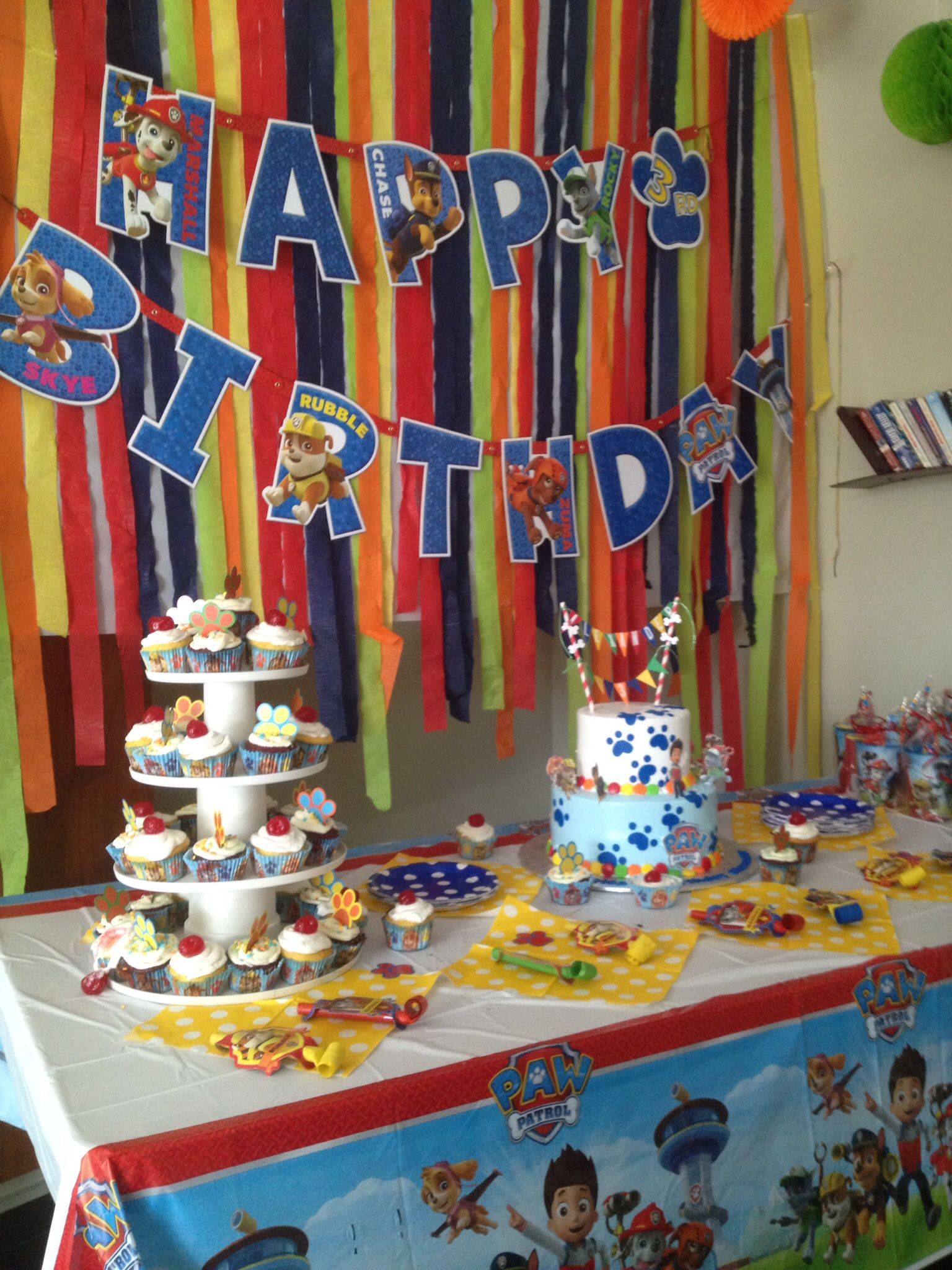 Paw Patrol Party Paw Patrol Cake Paw Patrol Cutouts And Cake Banner By The Party Foxx Paw Prints D Paw Patrol Decorations Paw Patrol Party Paw Patrol Gifts
