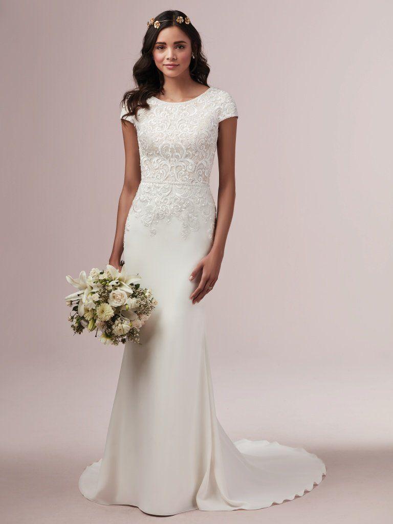 Pin On Rebecca Ingram Finola Collection Fall 2019 Wedding Dresses [ 1024 x 768 Pixel ]