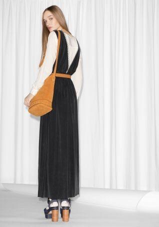 Other Stories Cupro Maxi Dress Black Dresses Black Maxi Dress Womens Fashion Spring Summer