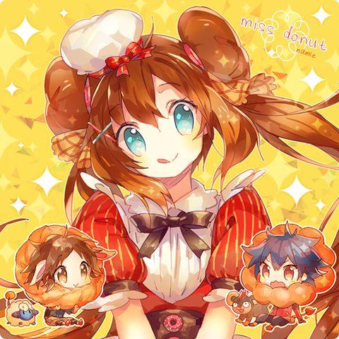 ポケモン LOooooOG6 Donut hair >o< I love her as a pastry chef