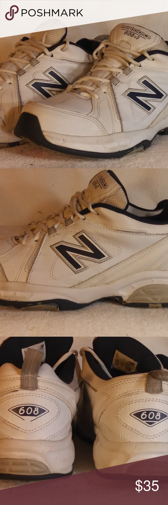 6f0defdfa51b6 A little dirty because they're white shoes. No rips or tears in mesh. New  Balance Shoes Athletic Shoes