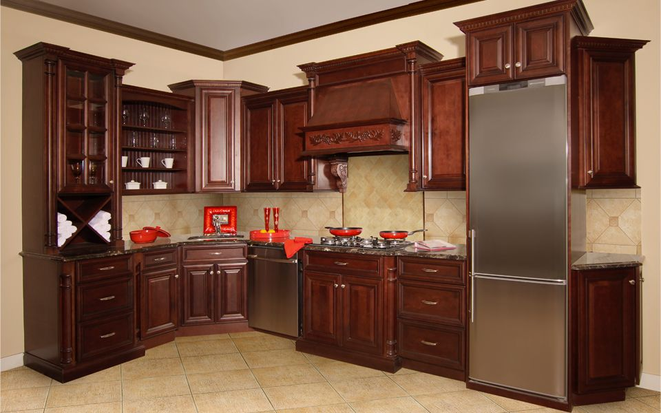 Elite Merlot Kitchen-Cabinetry Sold at Innovations | Cabinets ...