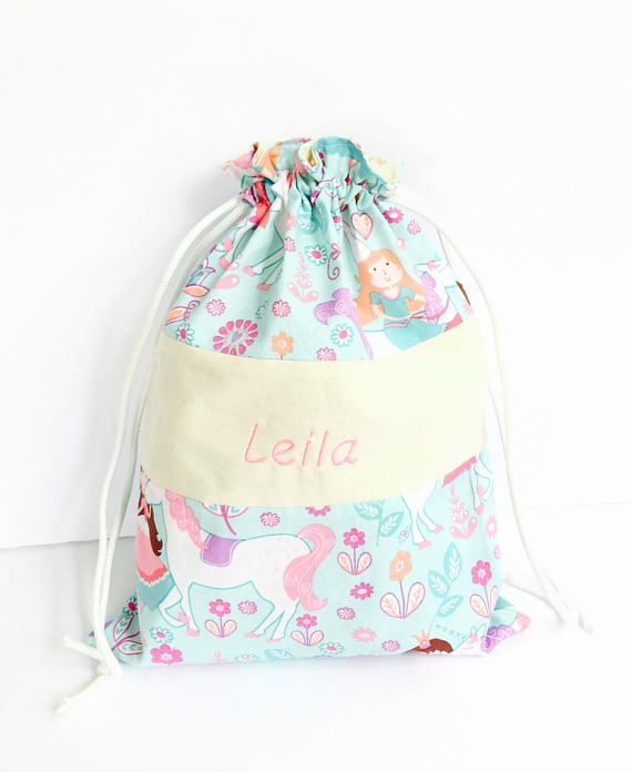 3a6dc73c75afa5 Personalized girls bag - Princess gift bags - Drawstring bag ...