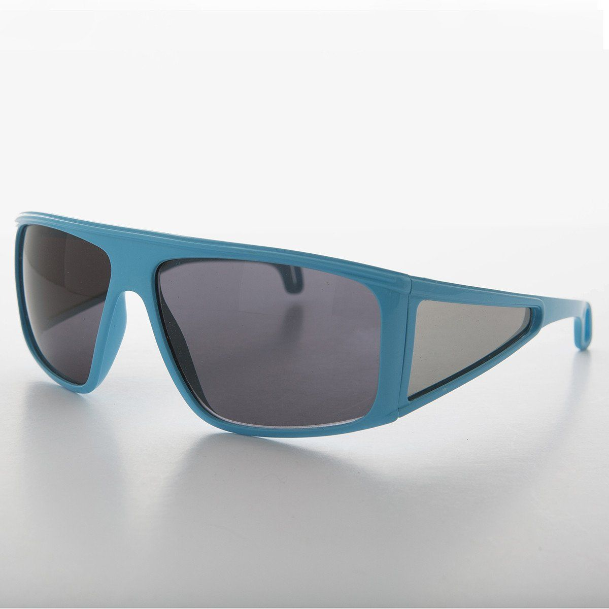 8b4f8086a91 80s Sporty Wrap Shield Vintage Sunglass with Side Lens Blinders Made In  France - Bijou