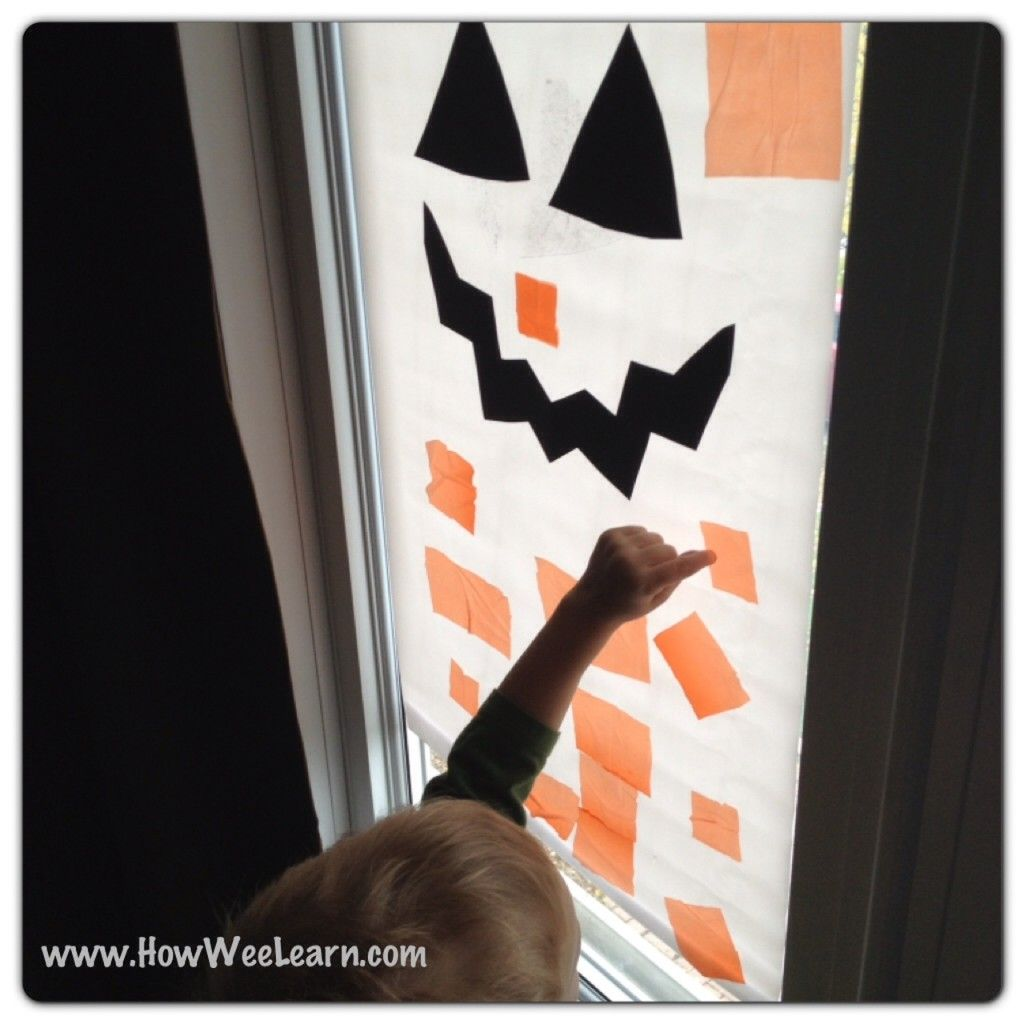 Easy Preschool Halloween Decorations Jack O Lantern