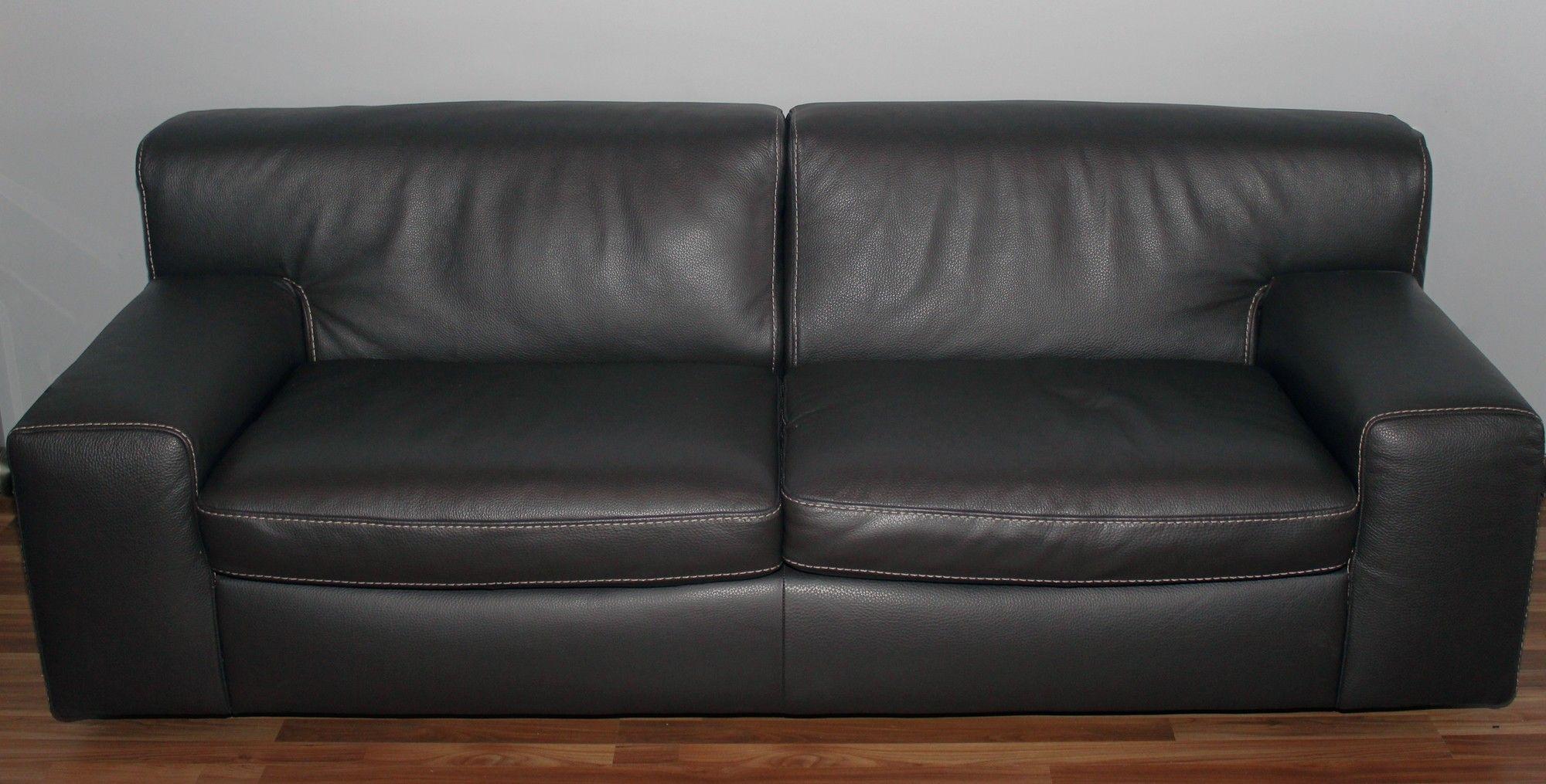 Incanto B600 Black Leather Sofa
