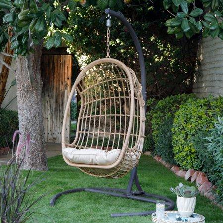 Patio & Garden Hanging egg chair, Swinging chair, Wicker