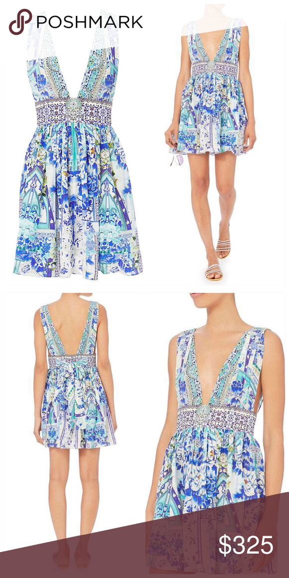 Camilla silk porcelain paradise dress intermix Size small camilla silk  floral dress. New with tags. Perfect for a resort look and this summer. 29513d9697f