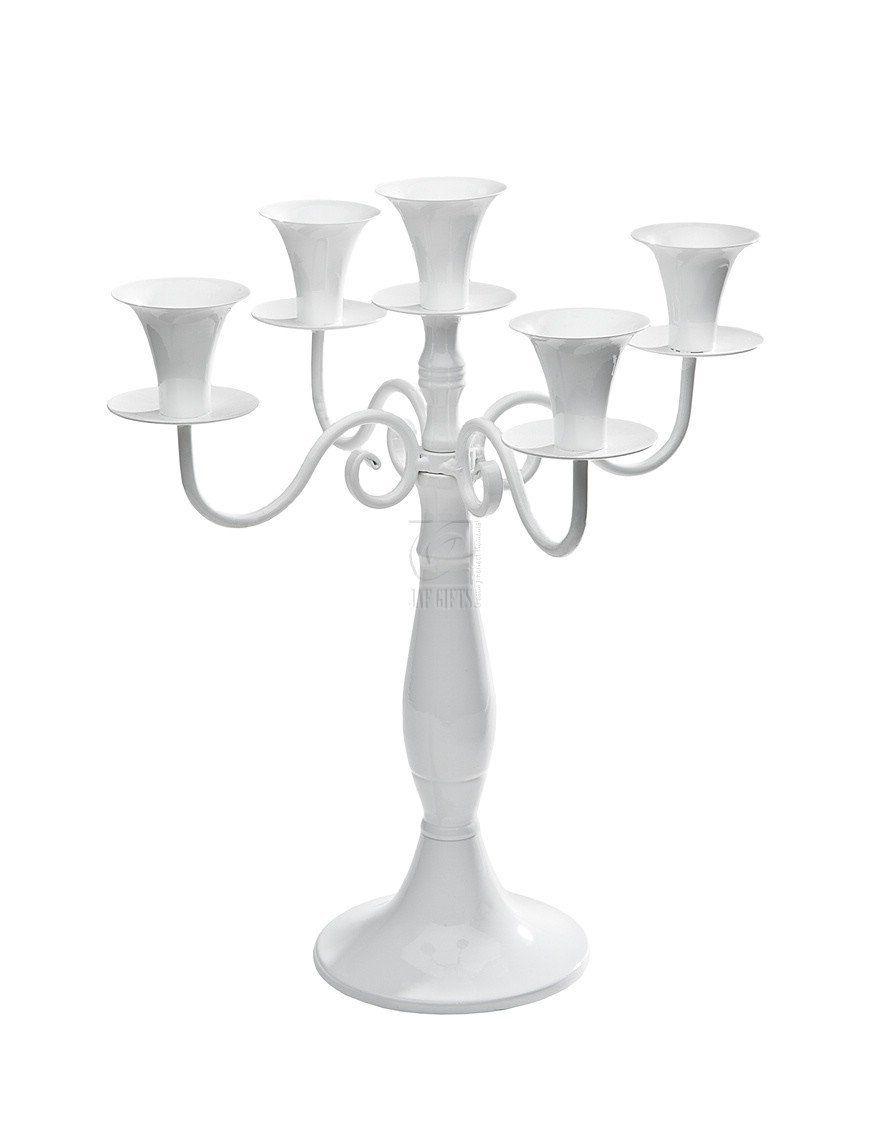 White Metal 5 Light Candelabra centerpiece ~~for sale~~~~ #wedding ...