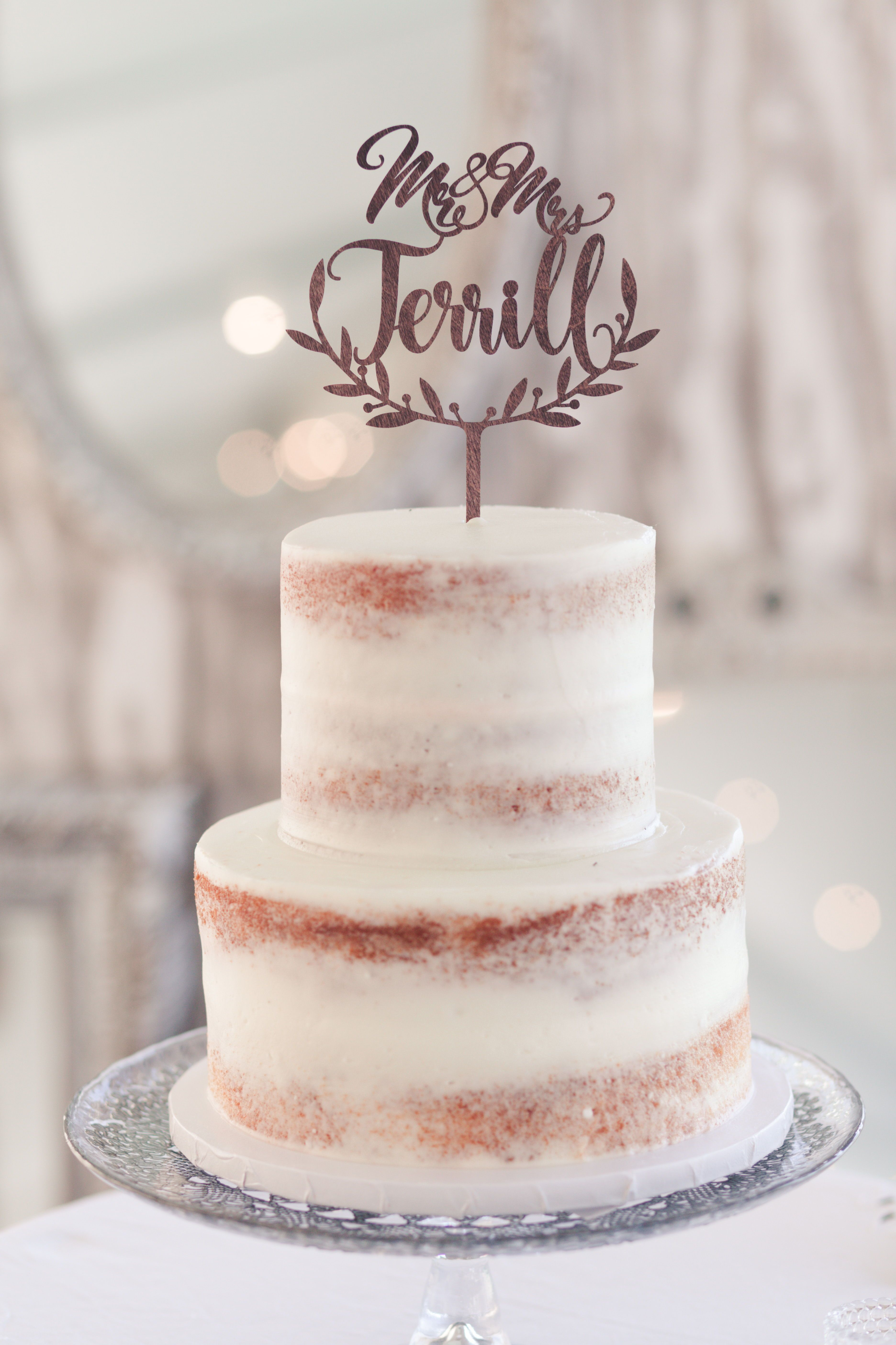 Crumb coated wedding cake rustic wedding cake for a classic country