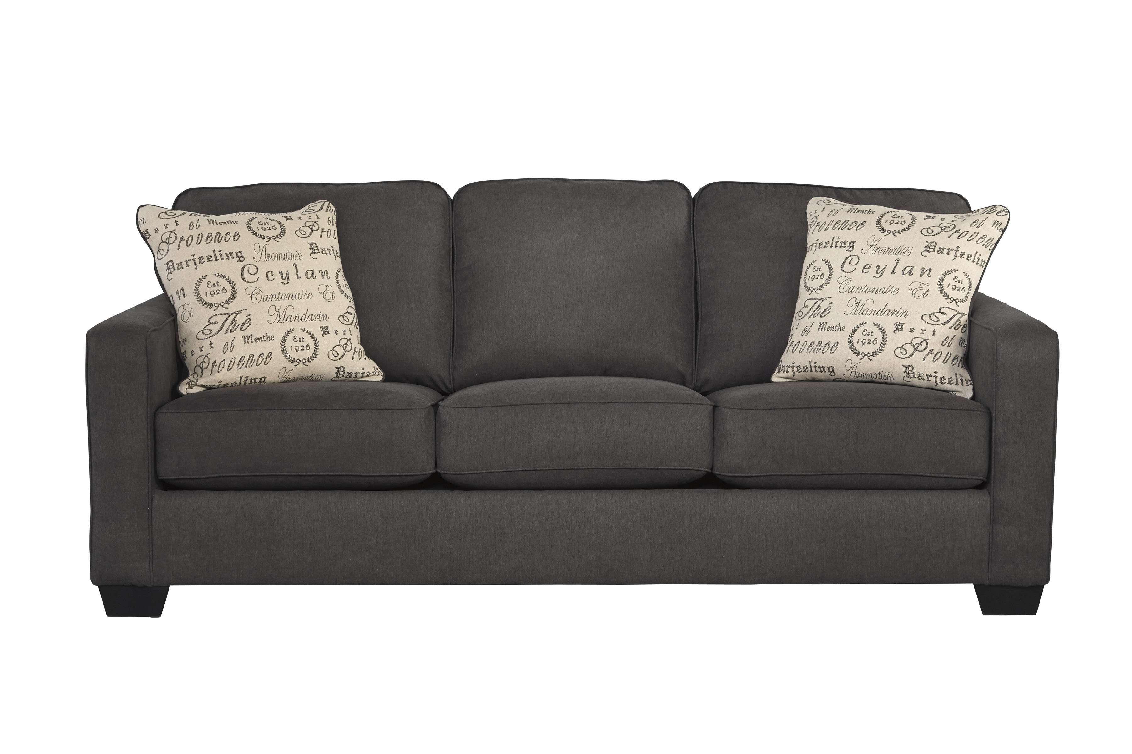 Signature Design By Ashley Alenya Charcoal Queen Sleeper Sofa
