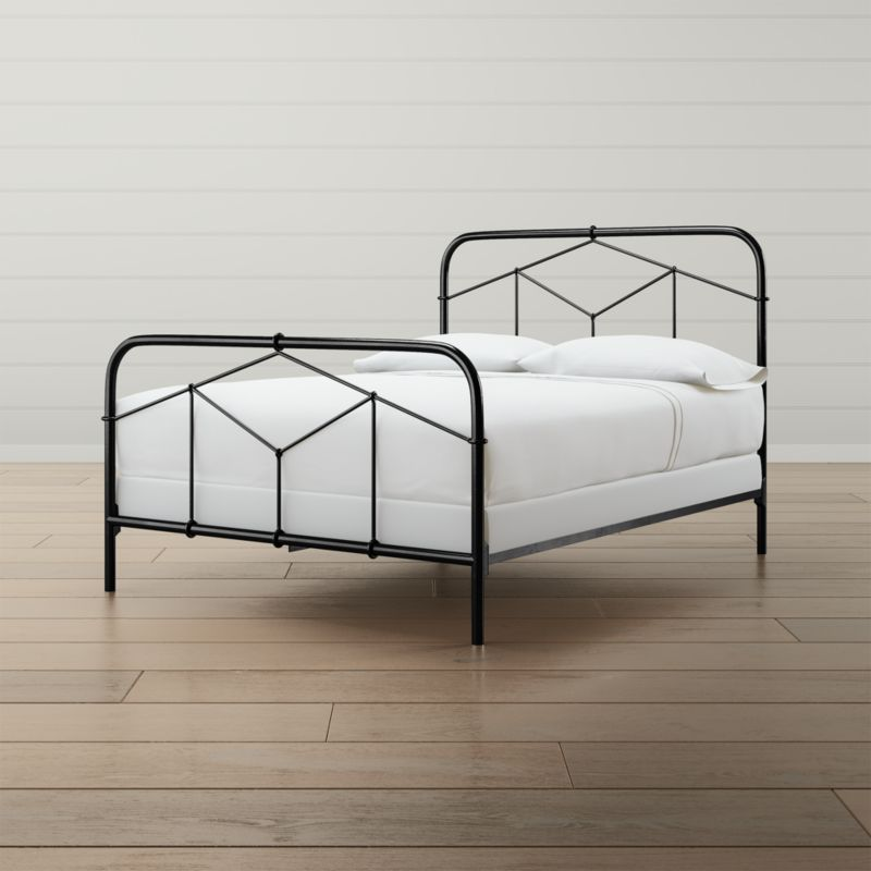 Cora Queen Black Iron Bed Reviews Crate And Barrel In 2020 Black Iron Beds Iron Bed Frame Iron Bed