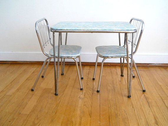 Good Vintage Vinyl Kid Table And Chair, Home Decor For Midcentury Childrenu0027s  Room, Desk For