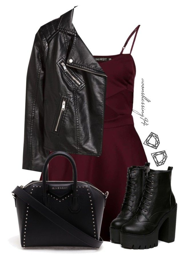 """Rock Chick"" by avonsblessing94 ❤ liked on Polyvore featuring Boohoo, H&M, Myia Bonner and Givenchy"