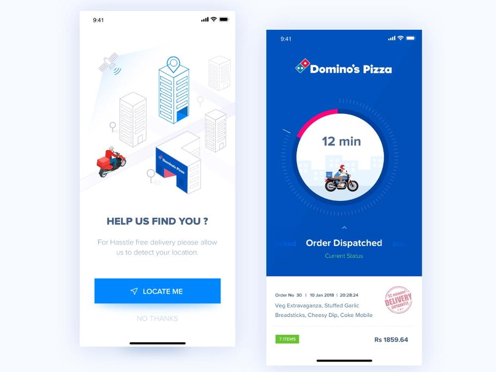 Domino's Location access & Track Order in 2020 Domino