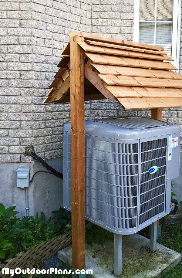 DIY Heat Pump Roof Diy shed, Heat pump, Heat pump cover