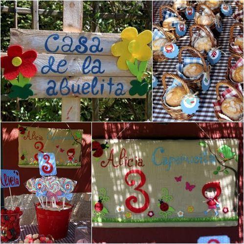 la fiesta de cumpleaos de alicia caperucita fiestas y cumples - Fiestas Y Cumples