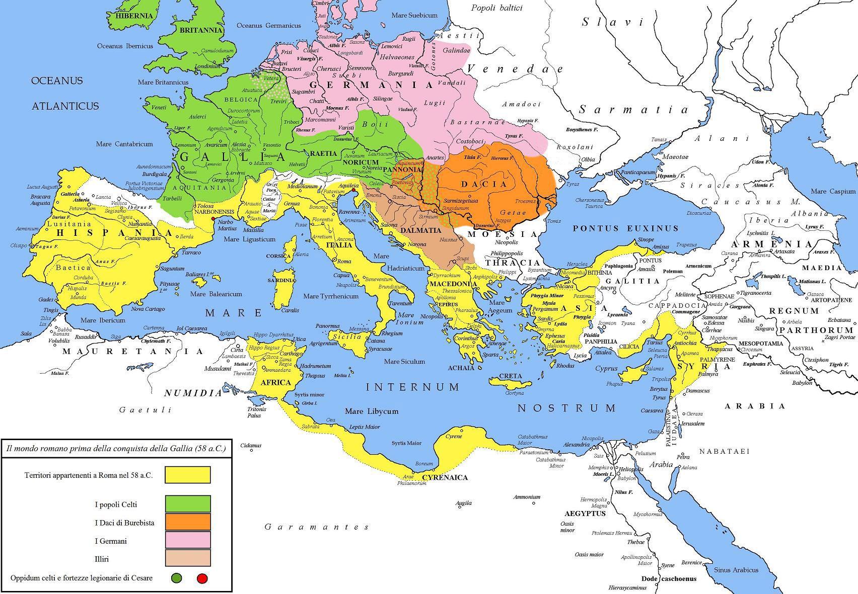 Roman Republic Map Map of Roman Republic in 58 BC (Year Berenice ascends throne  Roman Republic Map