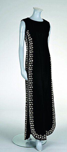 16a56e03a73dd9 Balenciaga black velvet evening gown, Winter 1967   Desi dresses ...