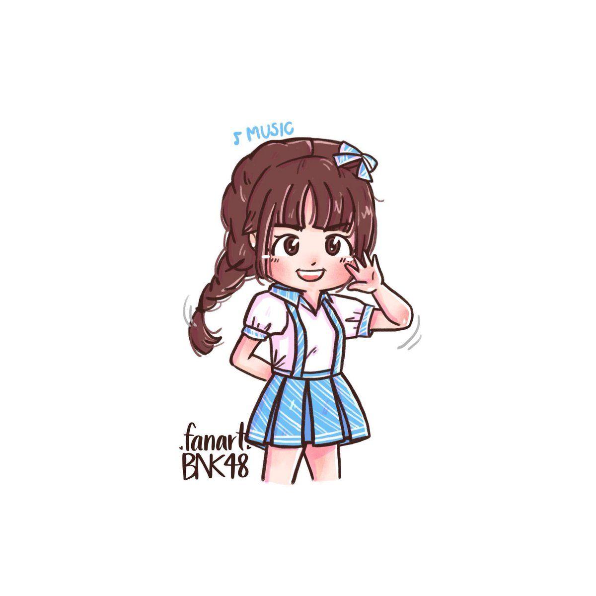 Fanart Bnk48 Fanartbnk48 Twitter Girls Cartoon Art Fan Art Cartoon