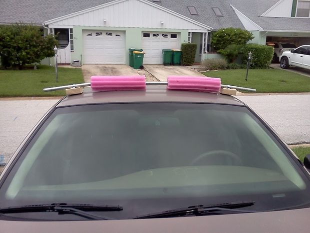 Kayak Roof Rack For Cars Without Rails >> Really Simple Roof Rack For Cars Without Rain Gutters Kayaking