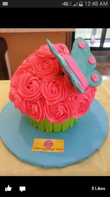 Big cupcake with butterfly