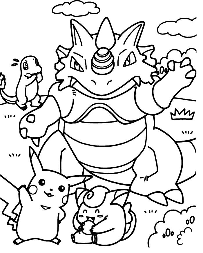 Pokemon Coloring Page | Coloring Pages of Epicness | Pinterest ...