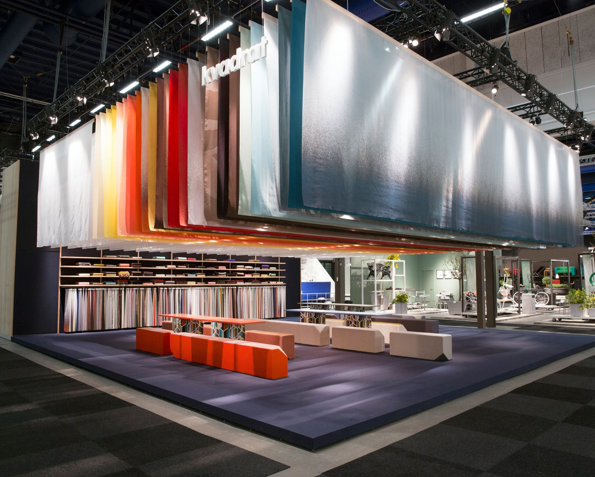 Fabric Exhibition Stand Zones : Kvadrat stand stockholm design week # 2015sff # 2015sdw