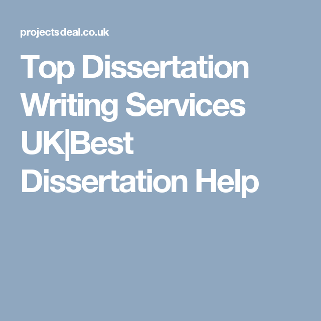 No 1 Best Dissertation Writing Service Projectsdeal