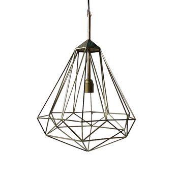 Pols Potten   Diamond Lamp   Brass