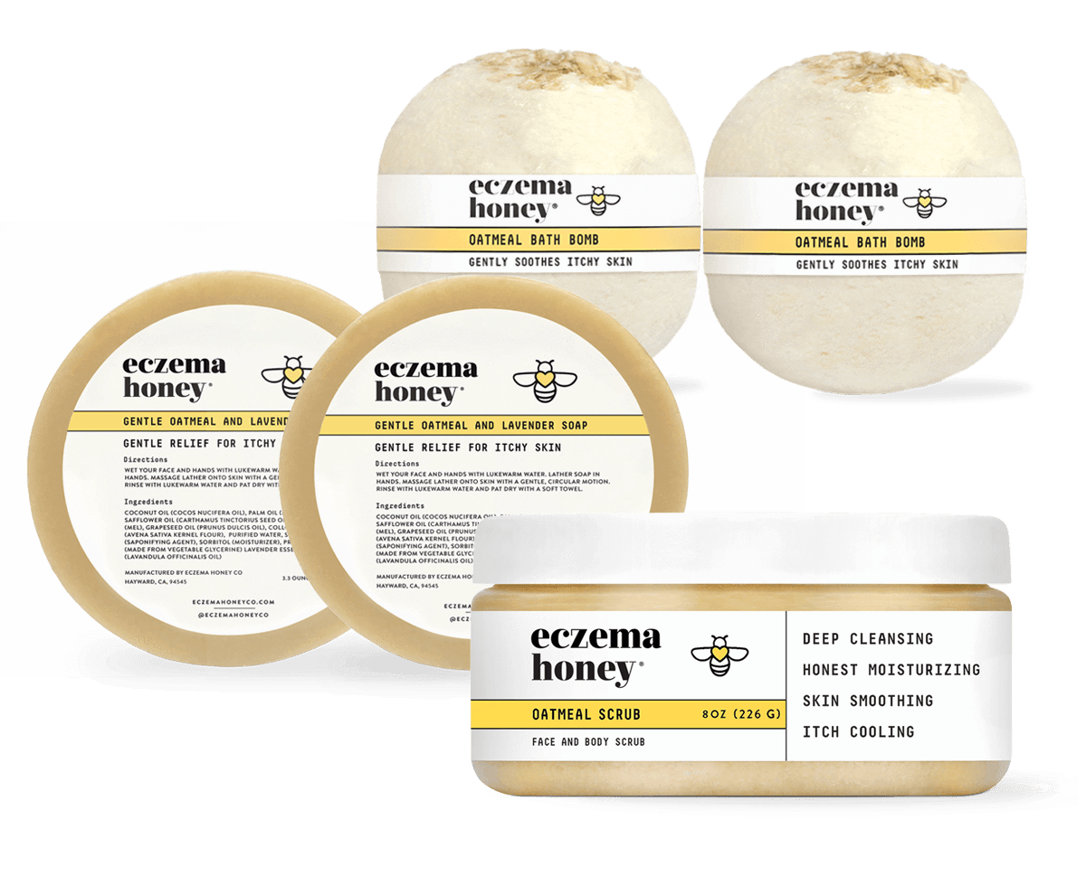 Eczema Honey Original Skin Soothing Cream Eczema Soothe Itchy Skin Oatmeal Bath Bombs