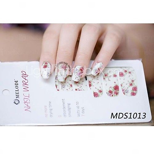 14 3d Nail Stickers Abstract Fashion Daily High Quality Rose