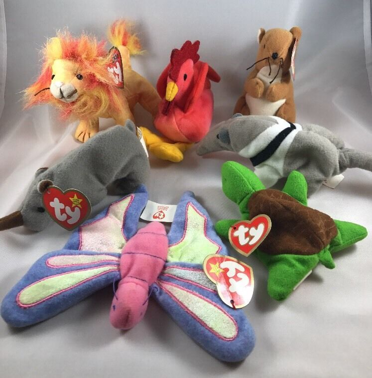 McDonalds Happy Meal Toys Ty Teenie Beanie Babies Lot Of 7 (5 With Tags)  Ty eafd37d83fd