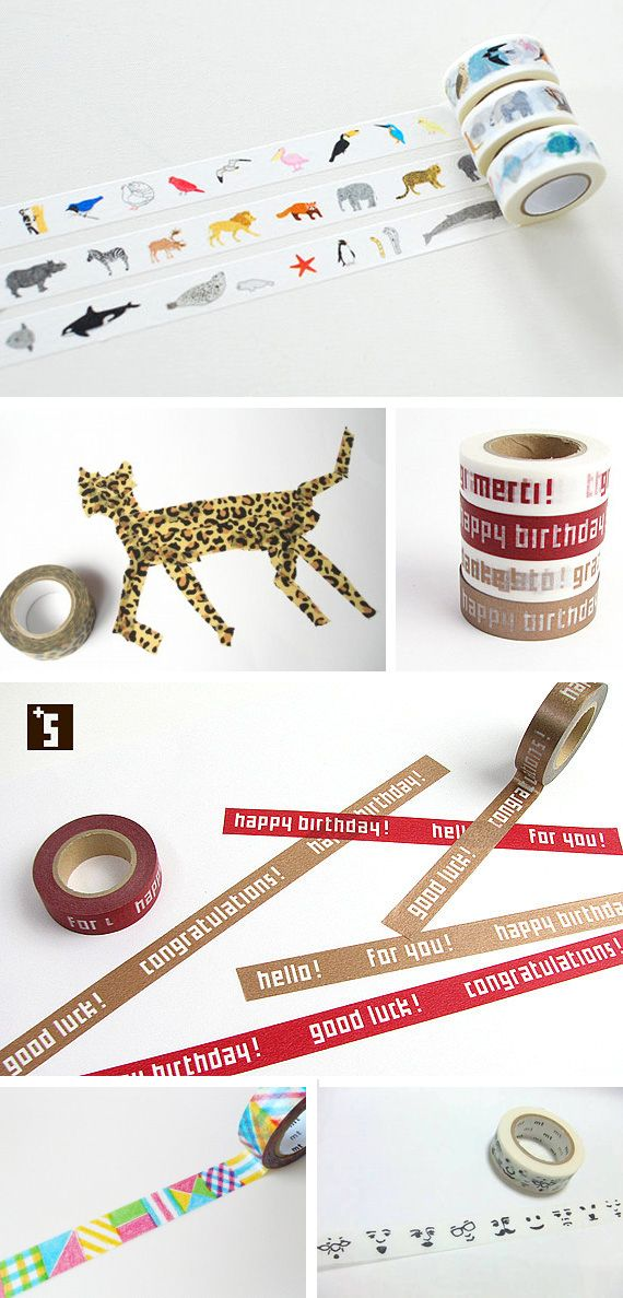 Cool Washi Tapes in Decoration for babies, children and adults parties, for events such as anniversaries or birthdays or dinners