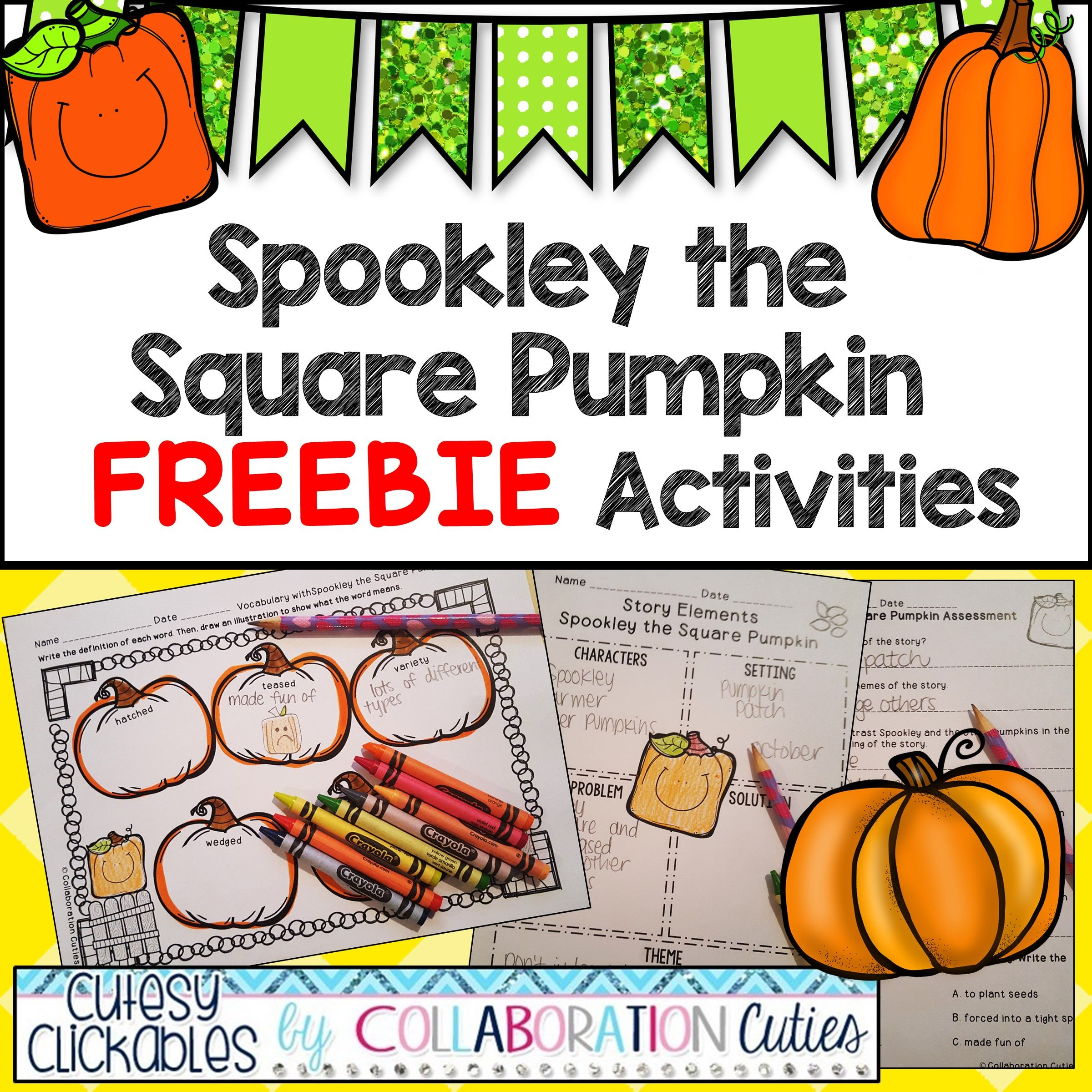 Spookley The Square Pumpkin Freebie Activities Assessment Vocabulary Amp More