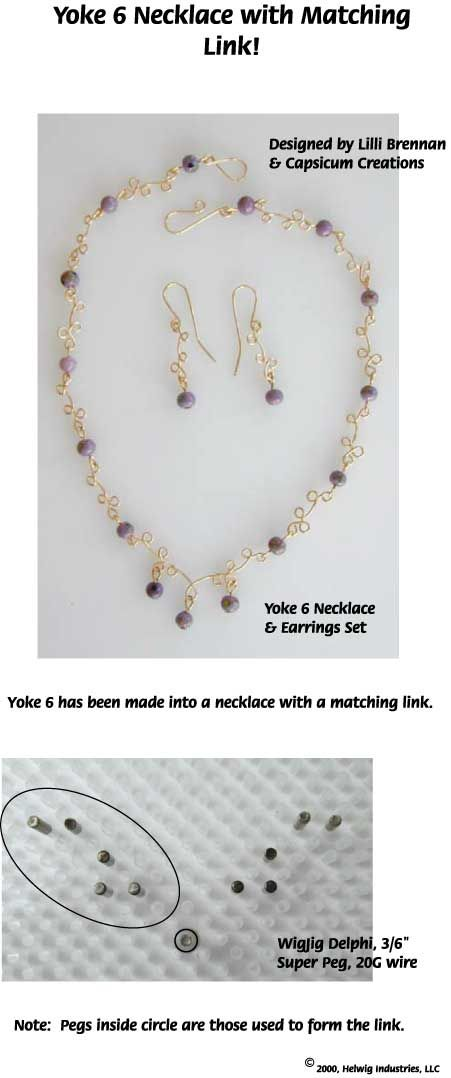 Wire and Beads Yokes Jewelry Making Projects made with WigJig tools ...