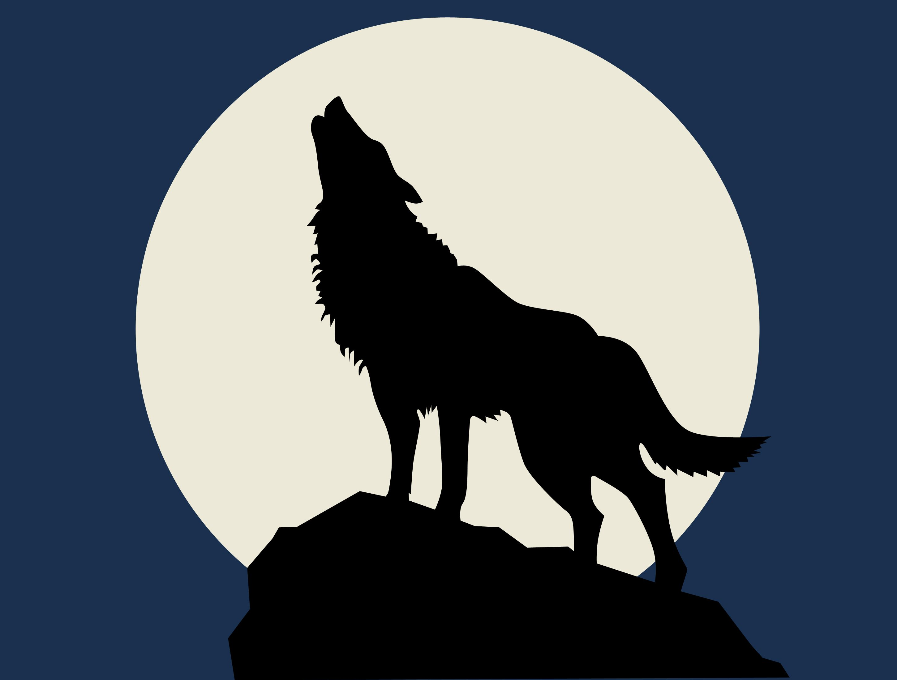 wolf howling at the full moon | Wolf howling, Stenciling ...