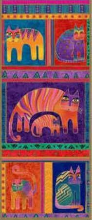 Silk Scarf Fantastic Feline Totem Classic By Burch, Laurel