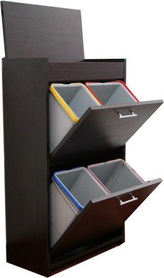 Mobile raccolta differenziata gea in legno 4 secchi - Mobile raccolta differenziata 4 secchi ...