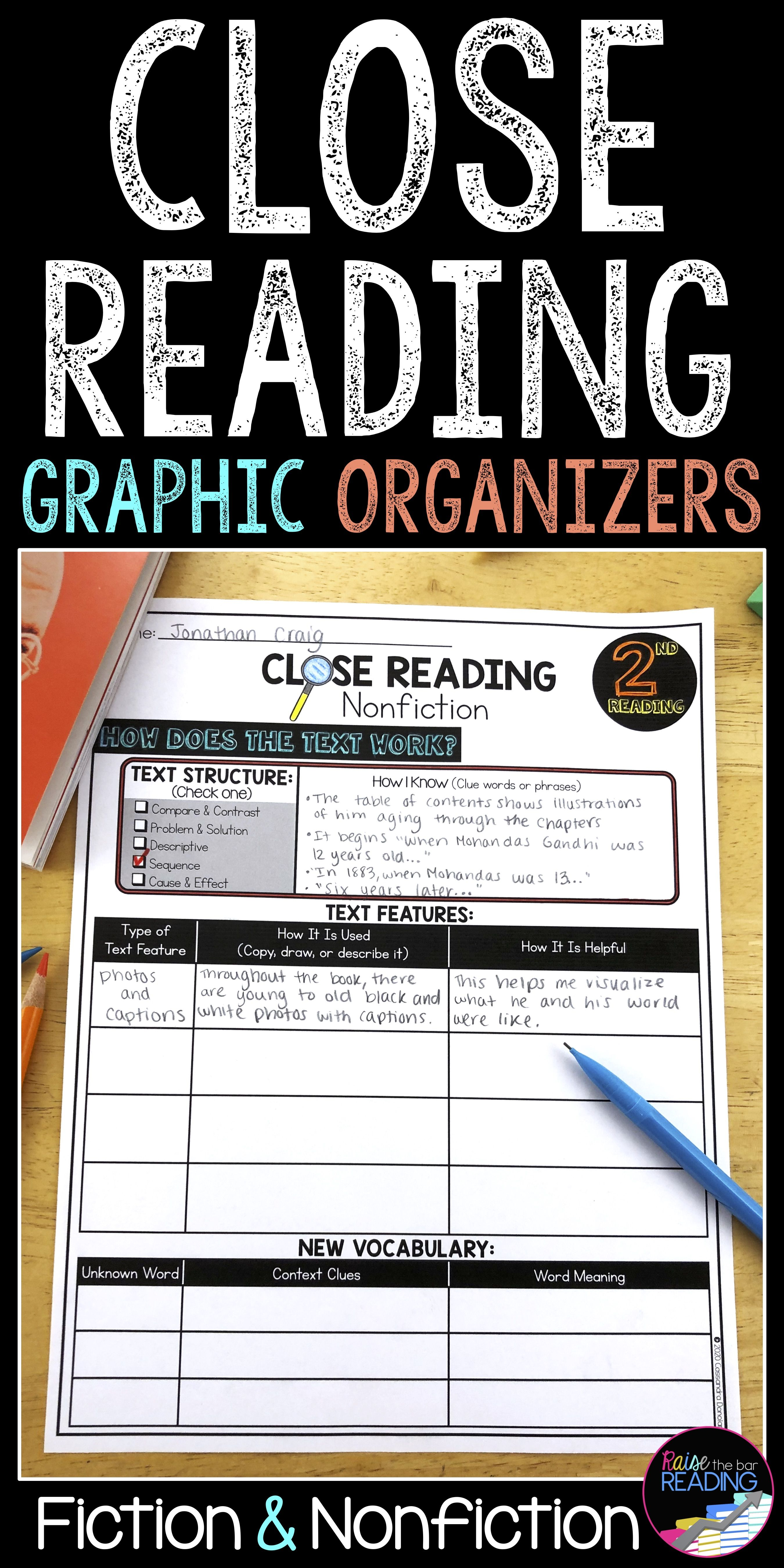 Close Reading Graphic Organizers Close Reading Graphic Organizers Reading Graphic Organizers Close Reading [ 5400 x 2700 Pixel ]