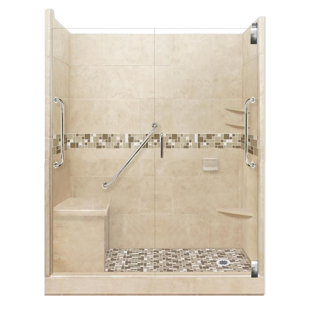 American Bath Factory Tuscany Freedom Grand Hinged 32 In X 60 In
