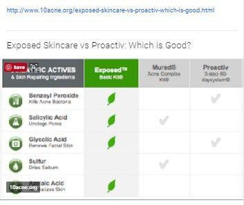 Http Www 10acne Org Exposed Skincare Vs Proactiv Which Is Good Html Exposed Skin Care Skin Care Proactiv