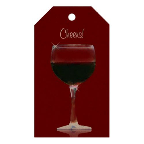 Cheers Wine Gift Tags