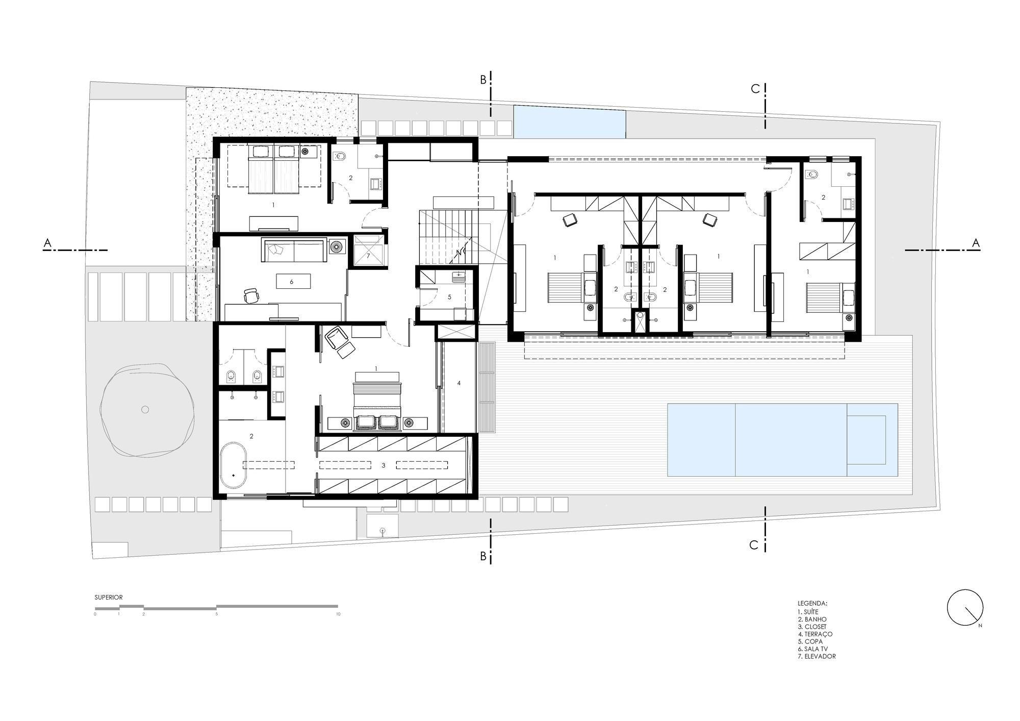 Imagem 23 de 33 da galeria de Projeto Residência Alphaville / mass arquitetura. Planta Superior