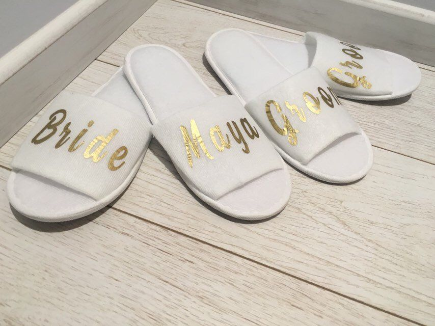 28c696f17 Excited to share the latest addition to my  etsy shop  Bridesmaid Slippers  Personalised Wedding